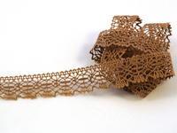 Bobbin lace No. 81032 dark beige | 30 m