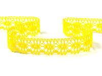 Bobbin lace No. 81050 yellow | 30 m