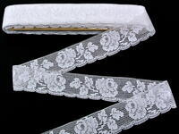 Bobbin lace No. 81094 white | 30 m