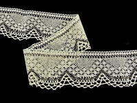 Bobbin lace No. 81735 ecru/dark brown | 30 m