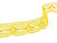 Paličkovaná krajka vzor 81847 tmavě žlutá | 30 m