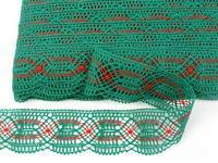 Bobbin lace No. 81919 dark green/light red   30 m