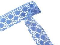 Paličkovaná krajka vzor 82099 blankytně modrá | 30 m