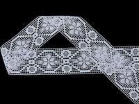 Paličkovaná vsadka vzor 82146 bílá | 30 m