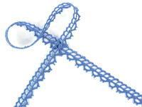 Paličkovaná krajka vzor 82226 blankytně modrá | 30 m
