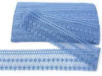 Paličkovaná krajka vzor 82240 blankytně modrá | 30 m