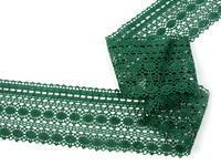 Paličkovaná krajka vzor 82240 tmavě zelená | 30 m