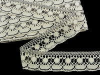 Bobbin lace No. 82277 ecru/light brown | 30 m