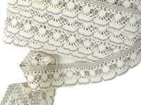 Bobbin lace No. 82277 ecru/dark linen | 30 m