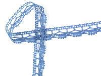 Paličkovaná krajka vzor 82307 světle modrá | 30 m