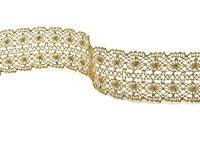 Bobbin lace No.  82309 gold antique | 30 m