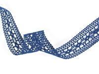 Paličkovaná vsadka vzor 82313 mořská modrá | 30 m