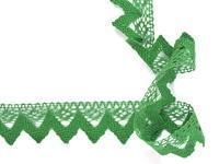 Paličkovaná krajka vzor 82334 trávová zelená   30 m
