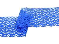 Paličkovaná krajka vzor 82336 královská modrá | 30 m