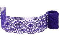 Paličkovaná krajka vzor 82339 purpurová | 30 m