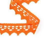 Paličkovaná krajka vzor 82341 sytě oranžová | 30 m