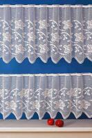 Curtain PATRICIE white, height 42 cm