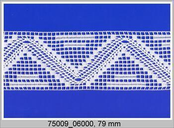 Paličkovaná vsadka 75009 bavlněná, šířka79 mm, sv.lněná
