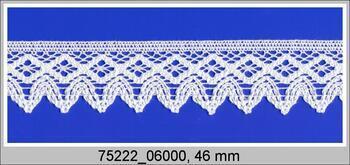 Cotton bobbin lace 75222, width 46 mm, fuchsia