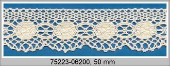 Cotton bobbin lace 75223, width 50 mm, ecru