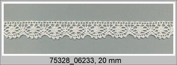 Paličkovaná krajka 75328 bavlněná, šířka20 mm, slonová kost