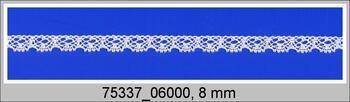 Paličkovaná krajka 75337 bavlněná, šířka8 mm, brusinková
