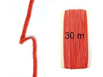 pruženka paličkovaná jemná 30m červená