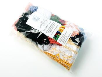 Kreativní balíček - paličkované krajky různé | 200 g - 1