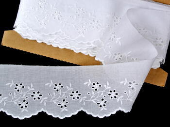 Embroidery lace No. 65023 white | 9,2 m - 1
