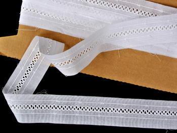 Vyšívaná krajka vzor 65030 bílá | 9,2 m - 1