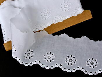 Embroidery lace No. 65031 white | 13,8 m - 1