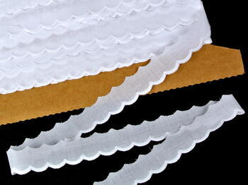 Vyšívaná krajka vzor 65045 bílá | 9,2 m - 1