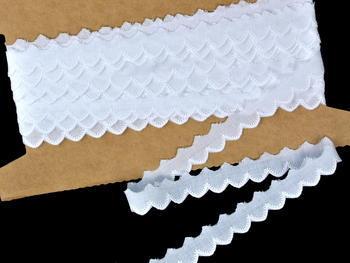 Vyšívaná krajka vzor 65089 bílá | 9,2 m - 1