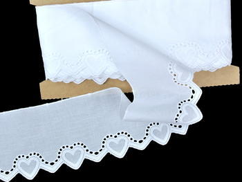 Embroidery lace No. 65092 white | 13,8 m - 1