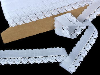 Embroidery lace No. 65093 white | 9,2 m - 1