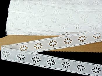 Vyšívaná krajka vzor 65095 bílá | 9,1 m - 1
