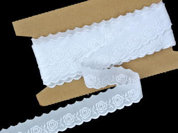 Embroidery lace No. 65096 white | 9,2 m - 1