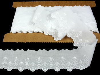 Embroidery lace No. 65113 white | 9,2 m - 1