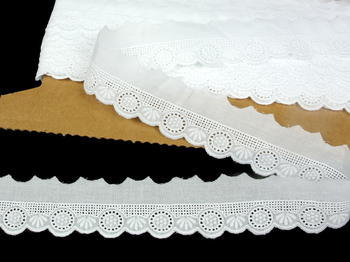 Embroidery lace No. 65116 white | 13,8 m - 1
