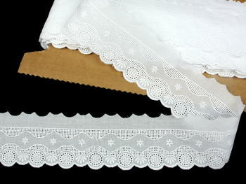 Embroidery lace No. 65118 white | 9,2 m - 1