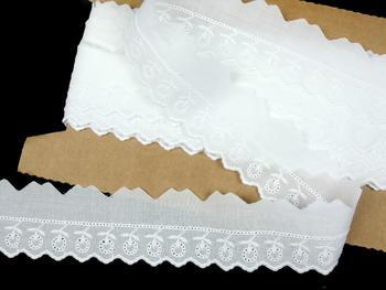Vyšívaná krajka vzor 65122 bílá | 9,2 m - 1