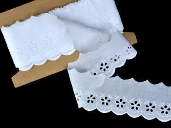 Embroidery lace No. 65001 white | 9,2 m - 1