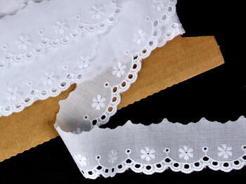 Embroidery lace No. 65006 white | 9,2 m - 1