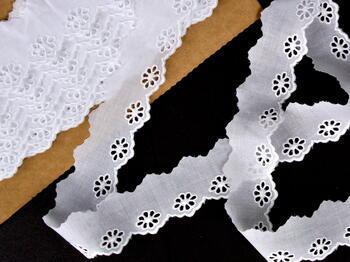 Embroidery lace No. 65017 white | 9,2 m - 1