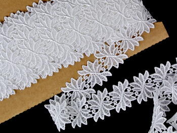 Embriodery lace No. 66001 white | 9,2 m - 1