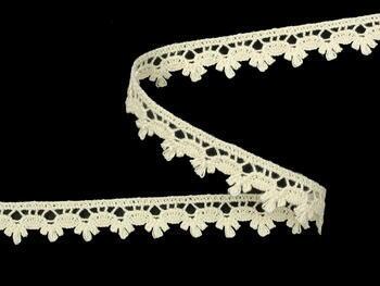 Cotton bobbin lace 73010, width 13 mm, ecru - 1