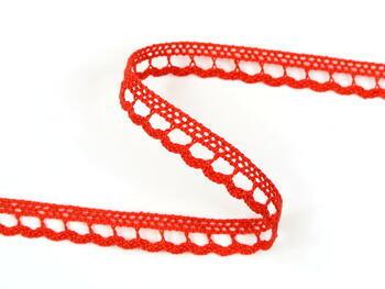 Paličkovaná krajka 73012 bavlněná, šířka10mm, červená - 1