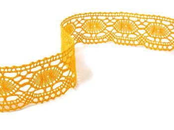 Paličkovaná krajka vzor 75032 tmavě žlutá | 30 m - 1