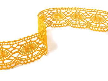 Paličkovaná krajka 75032 bavlněná, šířka45mm, tmavě žlutá - 1