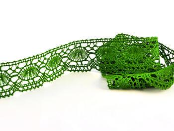 Paličkovaná krajka 75032 bavlněná, šířka45mm, trávová zelená - 1